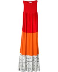 Tuinch - Combi Colorblock Jersey Strapless Dress - Lyst