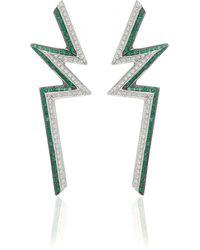 Ralph Masri - M'o Exclusive Bolt Emerald Earrings - Lyst