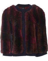 J. Mendel Chinchilla Jacket - Red