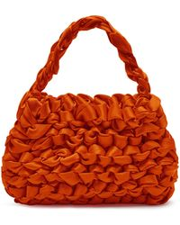 Miista Theodore Knotted Satin Bag - Red
