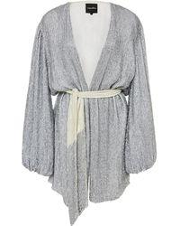 retroféte Gabrielle Sequined Wrap Dress - Metallic