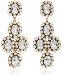 Erickson Beamon | Funhouse 24k Gold-plated Crystal And Pearl Earrings | Lyst