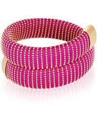 Carolina Bucci Magenta Caro Gold-plated Bracelet - Pink