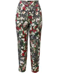 ANOUKI - Multicolor Flower Print Cropped Pants - Lyst