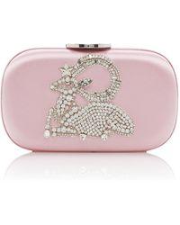 Giambattista Valli Embellished Satin Clutch - Pink