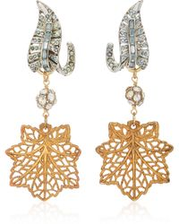 Lulu Frost Silver And Gold-plated Crystal Earrings - Metallic