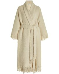 Rosetta Getty Blanket Belted Cashmere-blend Cardigan - White