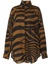 Tom Ford Oversized Zebra-printed Voile Shirt - Multicolour