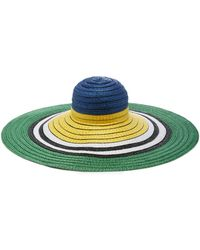 Lyst - Missoni Oversized Striped Woven Sunhat in Blue 8850a91bb803