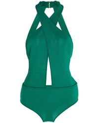 Elie Saab Knitted Bodysuit - Green