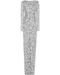 Michael Kors Sequined Tulle Gown - White