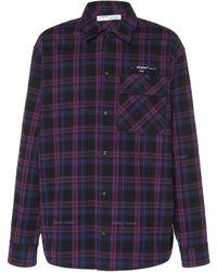 Off-White c/o Virgil Abloh Flannel Check Shirt - Purple