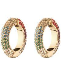 DEMARSON Lili Crystal-embellished 12k Gold-plated Ear Cuffs - Metallic