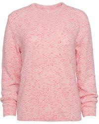 Brandon Maxwell Speckled Cashmere-blend Crewneck Jumper - Pink