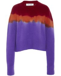Prabal Gurung Tie-dye Cashmere Sweater - Purple