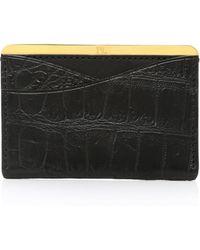 Passavant and Lee - No. 25 Crocodile Card Case - Lyst