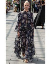 Maison Rabih Kayrouz Printed Muslin Maxi Dress - Blue