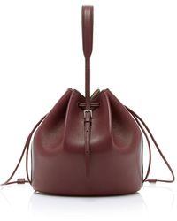 Jil Sander Holster Leather Bucket Bag - Purple