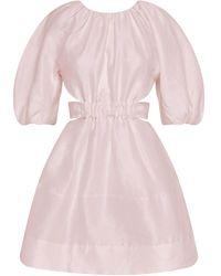 Aje. Psychedelia Cutout Linen-blend Mini Dress - Pink