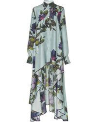 F.R.S For Restless Sleepers Zephyrus Magnolia Print Twill Blouse - Blue