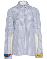 Boontheshop Collection - Striped Printed Cotton Shirt - Lyst