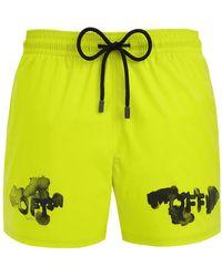 Off-White c/o Virgil Abloh +vilebrequin Printed Shell Swim Shorts - Yellow