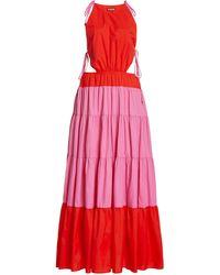 STAUD Minerva Two-tone Shell Maxi Dress - Pink