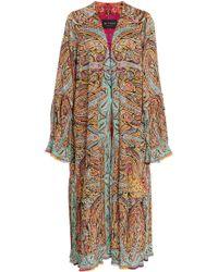 Etro - Exclusive Printed Silk Midi Robe - Lyst