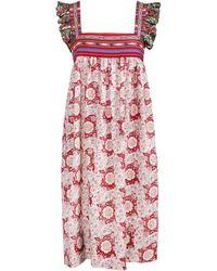 Alix Of Bohemia Maiden Cotton Smock Dress - Multicolour