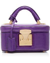 Stalvey Exclusive Lizard Beauty Case - Purple