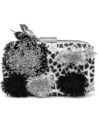 Maticevski Chameleon Embellished Silk Clutch - Black