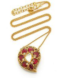 Amrapali Gold And Multi-stone Necklace - Metallic