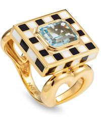 Nevernot 18k Yellow Gold Let's Play Chess Ring