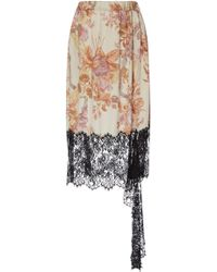 Christopher Kane - Valentines Lace Trim Skirt - Lyst