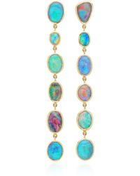 Katherine Jetter - One-of-a-kind Long Black Opal Drop Earrings - Lyst