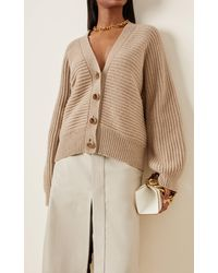 Stella McCartney Forever Stella Oversized Cashmere-wool Cardigan - Natural