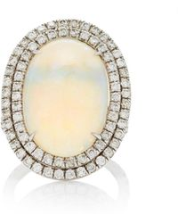 Nina Runsdorf - M'o Exclusive One-of-a-kind Oval Cabochon Opal Ring - Lyst