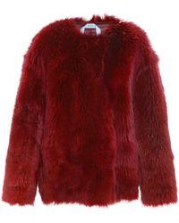 N°21 Catringl Oversized Fur Jacket - Red