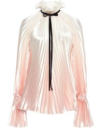 Philosophy Di Lorenzo Serafini Pleated Satin Blouse - Pink