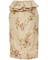 Brock Collection Exclusive Origano Taffeta Pencil Skirt - Multicolour