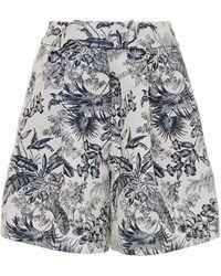 Erdem Howard Floral Jacquard Shorts - White