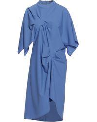Ji Oh - Cotton Draped Dress - Lyst
