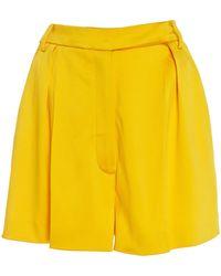 Carolina Herrera - Pleated Cady Shorts - Lyst