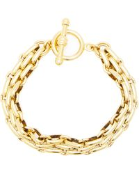 Brinker & Eliza End Game 24k Gold-plated Chain Bracelet - Metallic