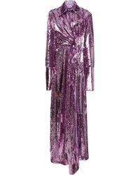 16Arlington Sequin Knot Gown - Purple