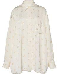 Victoria Beckham Oversized Satin Pyjama Shirt - Multicolour