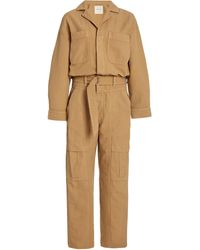 Citizens of Humanity Willa Belted Cotton Utility Jumpsuit - Natural