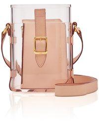 OFFICINA DEL POGGIO Mini Safari Acrylic And Leather Shoulder Bag - Pink