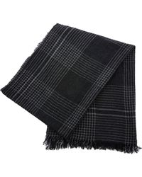 Begg & Co - Pin Check Cashmere Scarf - Lyst