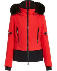 Toni Sailer Penelope Fur-trimmed Nylon Ski Jacket - Red
